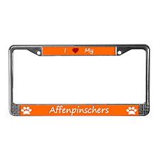 Orange I Love My Affenpinschers Frame