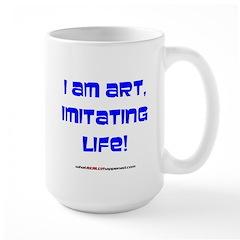 I am art Large Mug