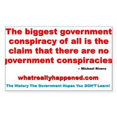 THE BIGGEST CONSPIRACY Rectangle Sticker 50 pk)