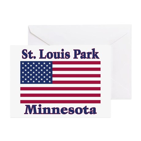 St. Louis Park Flag Greeting Cards (Pk of 10)