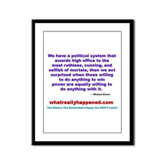 POLITICALPOWER Framed Panel Print
