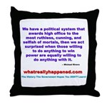 POLITICALPOWER Throw Pillow