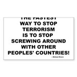 ENDING TERRORISM Rectangle Sticker