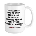 ENDING TERRORISM Large Mug