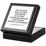 ENDING TERRORISM Keepsake Box