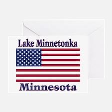 Lake Minnetonka Flag Greeting Card
