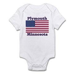 Plymouth Flag Infant Bodysuit