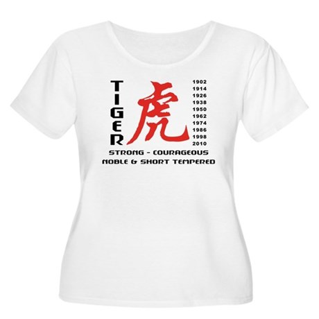 Chinese Zodiac Year of The Tiger Women's Plus Size