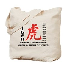 Chinese Zodiac Year of The Tiger Tote Bag