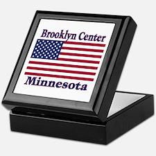 Brooklyn Center Flag Keepsake Box