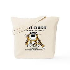 Funny Chinese Zodiac Tiger Tote Bag