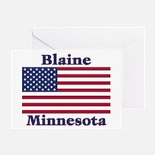 Blaine Flag Greeting Card
