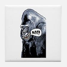 Gorilla Goes Meep Tile Coaster