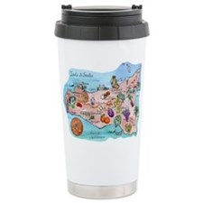 Map Of Sicily Travel Mug