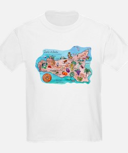 Map Of Sicily T-Shirt