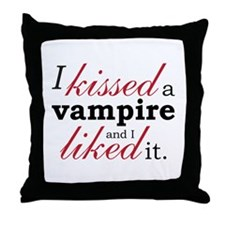"""""""I Kissed A Vampire"""" Throw Pillow"""