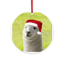 Alpaca Christmas Ornament (Round)