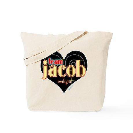Team Jacob Black Heart Tote Bag