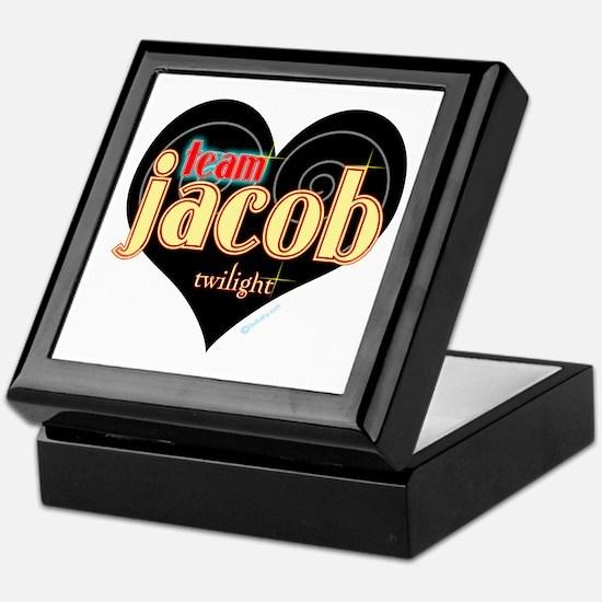 Team Jacob Black Heart Keepsake Box