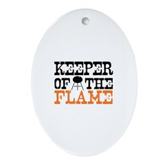 Keeper of the Flame (Grill) Oval Ornament