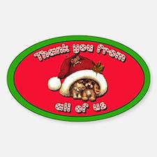 Cute Christmas Tipjar Sticker Kittens! Puppies!