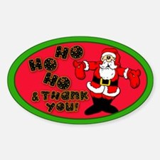 Santa Claus Tip Jar Decal
