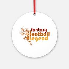 Retro Fantasy Football Legend Ornament (Round)
