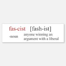Fascist winning argument Bumper Sticker (10 pk)