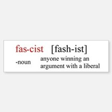 Fascist definition Bumper Bumper Bumper Sticker