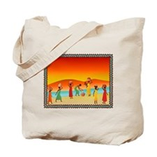 African Women collecting water Tote Bag