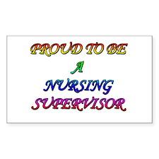 NURSING SUPERVISOR Rectangle Decal