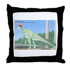 Lambeosaurus Throw Pillow