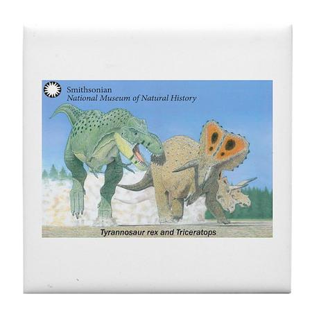 TrexTriceratops Tile Coaster