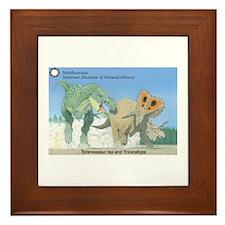 TrexTriceratops Framed Tile