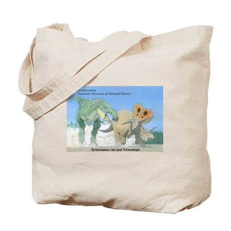 TrexTriceratops Tote Bag