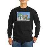 TrexTriceratops Long Sleeve Dark T-Shirt