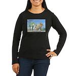TrexTriceratops Women's Long Sleeve Dark T-Shirt