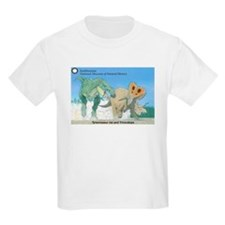 TrexTriceratops Kids Light T-Shirt
