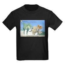 TrexTriceratops Kids Dark T-Shirt