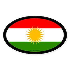 Kurdish Flag Oval Decal