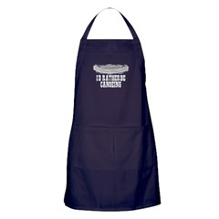 I'd rather be canoeing Apron (dark)