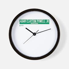Adam Clayton Powell Jr Boulevard in NY Wall Clock