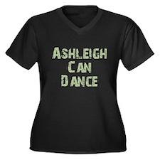Ashleigh Women's Plus Size V-Neck Dark T-Shirt