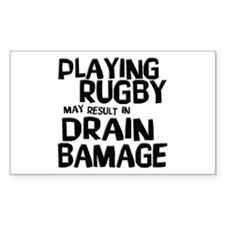 Rugby Damage Rectangle Decal