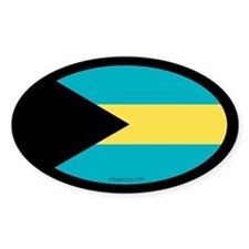 Bahamian Flag Oval Decal