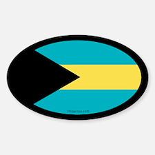 Bahamian Flag Oval Decal