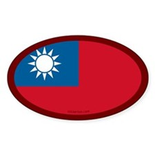 Taiwanese Flag Oval Decal