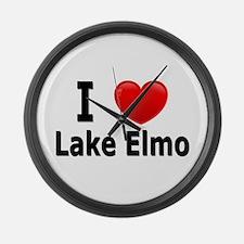 I Love Lake Elmo Large Wall Clock