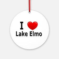 I Love Lake Elmo Ornament (Round)