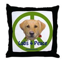 Labs 4 Peace-Yellow Throw Pillow